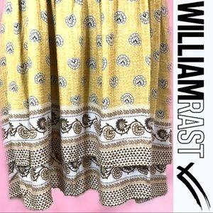"William Rast Dresses - WILLIAM RAST ""Devondra"" BoHo Mustard Dress Large"